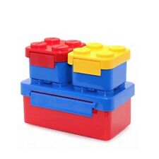 Oxford Block Brick Picnic Lunch Box for Children Kids School Family Travel