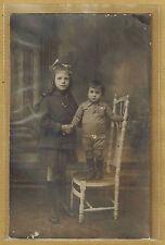 Carte Photo vintage card RPPC jeune fillette enfant habits mode fashion ph0349