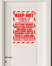 Gaming Quote Door/Wall art sticker/Decal Boys/Man Cave