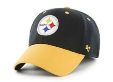 Pittsburgh Steelers hat cap OSFA stretch fit nwt new black yellow '47 Brand