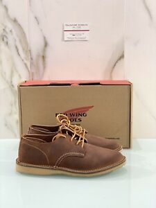 Red Wing Stringata Uomo Oxford Red Maple 03306 In Suede Red Wing Uomo 43.5