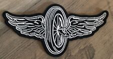 FLYING WHEEL WINGS PATCH Motorcycle Racing INDY Biker EMBROIDERED Harley FHP -