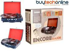 Encore Major: Retro 3-speed Stereo Turntable with Built-in Speakers, Bluetooth