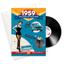 59th BIRTHDAY or ANNIVERSARY GIFT -1959 4-In-1 CD Card - Story of Your Year
