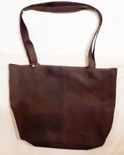 Edel LEABAGS Damen Tasche EDEL Braun Handtasche Shopper Vintage Look Echt Leder