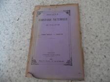 1899.Bulletin société histoire naturelle Toulouse.Pyrénées.Trutat.
