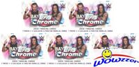 (5) 2020 Topps WWE CHROME EXCLUSIVE Factory Sealed Blaster Box-X-FRACTORS!