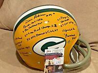 Dave Robinson signed Green Bay Packers Full Size TK Helmet 18 Inscriptions JSA