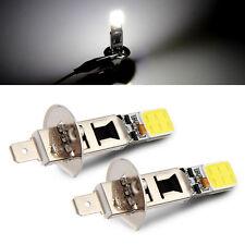 2x H1 Car 6000K COB LED Fog Driving Xenon Bulbs Light High SMD Driving Fog Beam