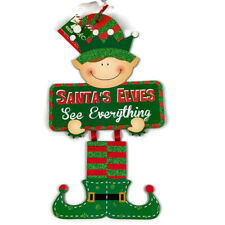 """Santa's Elves See Everything"""" Wall Sign Door Hanging Decoration"""