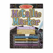 Melissa & Doug Metallic Marker Trace & Color Pad, #9320