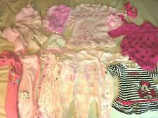 Huge Bundle 0-3 Month Baby Girl Clothes dresses sleepsuites and hairbands +more