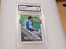 Barry Sanders GRADED ROOKIE! Mint 9! 1989 Topps Traded #83T Detroit Lions HOF X9