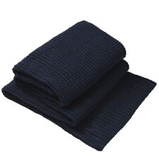 Private Collection Langley Navy Knitted Throw Rug / Bed Runner 150cm x 200cm