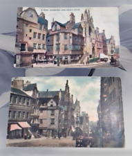 Edinburgh John Knox's House Vintage Colour Oilette Postcards Scotland