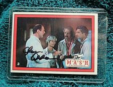 M*A*S*H* TV SHOW Trading Card AUTOGRAPHED Hand Signed ALAN ALDA Hawkeye