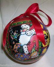 Mary Engelbreit Santa Claus & Candy Cane Ball Ornament Christmas Unbreakable