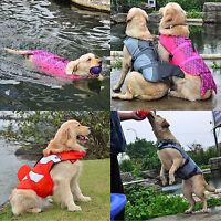 Float Pet Life Jacket Dog Lifesaver Safety Shark Vest for Swimming Training