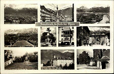 Innsbruck Österreich Tirol 1951 Panorama Alpen Nordkette Innenstadt Hofer Statue