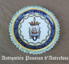 B2017814 - Superbe plat de 31,5 cm en céramique Portugaise - Très bon état
