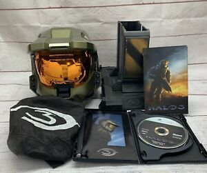 Halo 3 Legendary Edition Master Chief Helmet w/ Stand & Halo 3, Essentials Discs