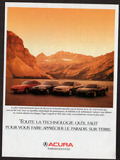 1994 ACURA Integra, Vigor, Legend and NSX 1995 Original Print AD - photo canada