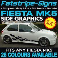 FORD FIESTA MK5 GRAPHICS STRIPES DECALS STICKERS CAR VINYL 1.2 1.6 1.8 16V ZETEC