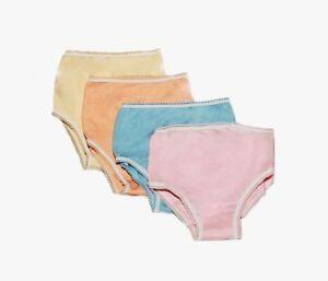 Girls high waisted knickers Children underwear Kids 100 % Cotton brief pack lot