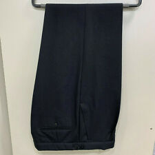 Ex hire pure wool Black herringbone trousers with pleated fronts