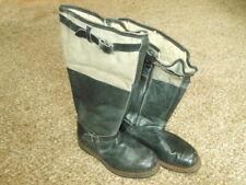 WW2 German Luftwaffe Pilot Leather Flight Boots - Fleece Lined - LATE WAR - NICE