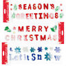Merry Christmas Gel Clings Window Glass Stickers Decorations Assortment Designs
