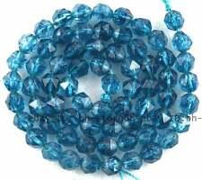 Blue 6mm Cyanite Quartz Cut Faceted Rhombic Gemstone Beads 15''