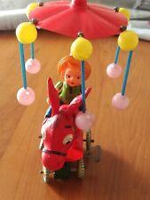 """Giocattolo di latta """"Somarello con ombrello girevole"""" made in Japan anni 60"""