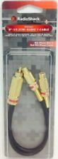 RCA MALE TO 2X RCA FEMALE Y CABLE GOLD TECHNOLOGY PLUS