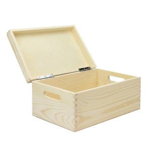 Wooden Storage Box Keepsake Box with Lid Craft Box Kitchen Storage Pukkr