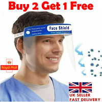 Full Face Shield A Visor Glasses Guard Protection Safety Covering Clear Anti Fog