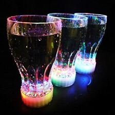 Flashing Light Up LED Cola Juice Soda Party Glow Cups Glasses Birthday Wedding