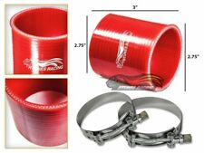 "2.75"" Silicone Hose/Pipe Straight Coupler RED +T-Bolt Clamp For Nissan/Datsun"