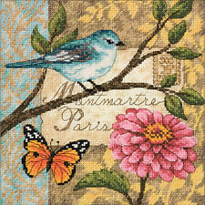 Cross Stitch Kit ~ Gold Collection Bird Poste Mantmartre Paris #70-65103