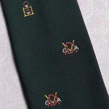 Egg Timer CLUB ASSOCIATION cravate vintage rétro vert foncé par maddocks & DICK 1970 S