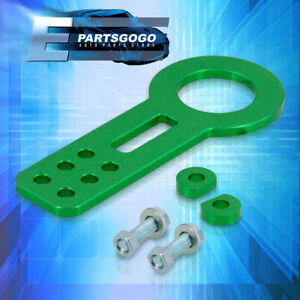 Universal Front Tow Hook Anodized Green Set Kit Towing Trailer Chassis Hitch Kit