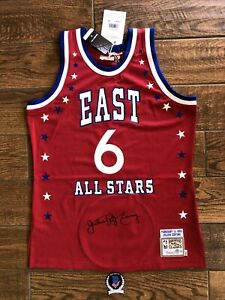 """Julius """"Dr. J"""" Erving Signed All Star Authentic Mitchell & Ness Jersey Beckett"""