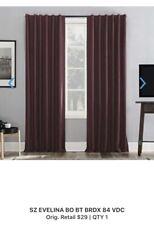 "LOT Sun Zero Bedding 52"" Wide X 84"" Long Blackout Window Panel Curtains - Wipes"
