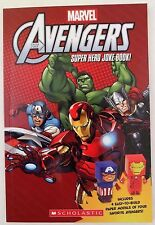 Marvel Avengers Super Hero Joke Book W/4 Easy To Build Paper Models Of Heroes
