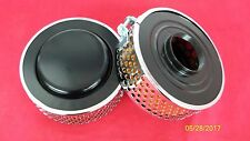 67-70 TRIUMPH BONNEVILLE NEW PAIR OF DISHED AIR FILTERS 83-1536 389 900 SERIES