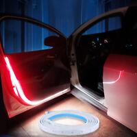 2pcs Car Door Open Warning Strip Lamp Flashing Signal LED Lights Anti-collision