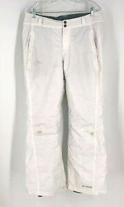 COLUMBIA - MEN'S SIZE LARGE - WHITE SNOW SKI PANTS