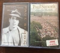 Paul Simon X 2 Cassettes Negotiation & Love Songs - Concert In The Park