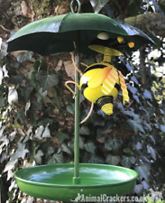Umbrella with Bee decoration hanging metal Bird Feeder garden bird lover gift