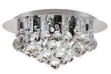 Modern Elegant Round Chandelier Ceiling Light Stunning Crystal Droplets